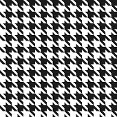Seamless black and white houndstooth vector pattern.