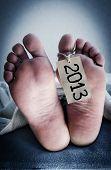 Goodbye, 2013! Concept photo.