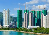 picture of land-mass  - Building under construction in Hong Kong - JPG