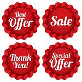Sale, best offer, special offer, thank you tag set
