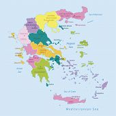 Greece -highly detailed map.All elements are separated in editable layers clearly labeled. Vector