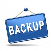 Backup data and software on copy in the cloud on a harddrive disk on a computer or server for flie s