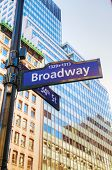 picture of broadway  - A Broadway sign in New York City - JPG
