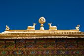 stock photo of dharma  - Tibetan Monastery Gates - JPG