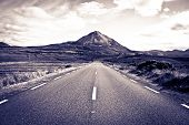 Road To The Errigal Mountains Toned
