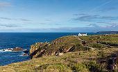 Land`s End Cornwall UK the most westerly point of England
