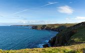 Cornwall coast at Land`s End view towards Cape Cornwall and Sennen Cove