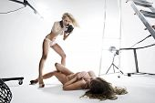 Two Sexy Women Doing Photo Sessions