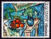 Postage Stamp France 1976 Still Life, By Maurice De Vlaminck