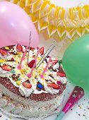 Strowberry Birthday Cake
