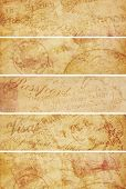 Vintage Travel Background Banners