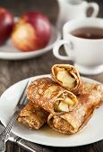 Apple-filled Crepes