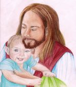 Christ Holding A Young Child