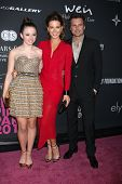 LOS ANGELES - OCT 19:  Lily Mo Sheen, Kate Beckinsale, Len Wiseman at the 2013 Pink Party at Hanger