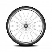 detailed illustration of a bicycle wheel, eps 10 vector