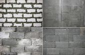 stock photo of cinder block  - Four construction texture - JPG