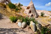 stock photo of cave-dweller  - Probably the best known feature of Cappadocia - JPG
