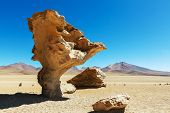 Arbol de piedra - Stone rock formation in Bolivia