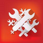 Vector repair web icon