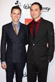 LOS ANGELES - OCT 18:  Todd Spiewak, Jim Parsons at the 2013 GLSEN Awards at Beverly Hills Hotel on