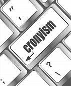 Cronyism On Laptop Keyboard Key