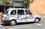 Cab downtown Glasgow