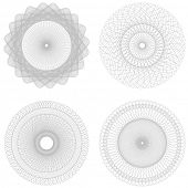 Vector set Spirographs background for certificates, coupons, vouchers, posters, tickets or cards