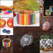 Collage of various jewellery