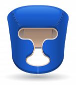 Boxing Helmet Vector Illustration