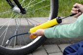 Pumping Bicycle Tire