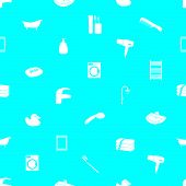 image of shiting  - bathroom blue and shite icons pattern eps10 - JPG