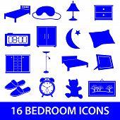bedroom icon set eps10