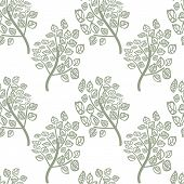 vector seamless pattern of green leaves