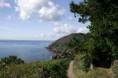Coastal path towards Polperro Harbour