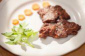 Gourmet grilled steak flavored