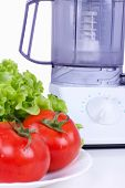 Tomatoes And Kitchen Processor