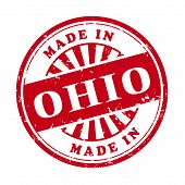 Made In Ohio Grunge Rubber Stamp