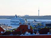 Ferry In The Tallinn Port