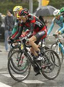 BARCELONA - MARCH, 30: Yannick Eijssen of BMC Racing Team rides during the Tour of Catalonia cycling race through the streets of Monjuich mountain in Barcelona on March 30, 2014