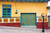 foto of medellin  - An old colorful house in Guatape Colombia  - JPG