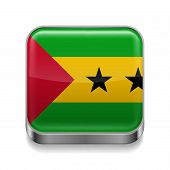 Metal  icon of Sao Tome and Principe