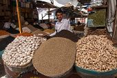 Selling Spices In Yemen