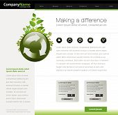 Green website template in editable vector format
