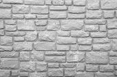 Preformed Stone Wall In Black And White