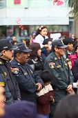 Policemen at the Wong Parade in Lima, Peru