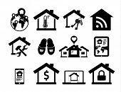 Real estate icons set 04