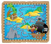 Pirate map theme image 3 - eps10 vector illustration.