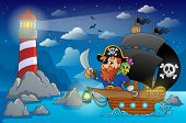 Pirate ship theme image 5 - eps10 vector illustration.