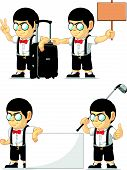 Nerd Boy Customizable Mascot