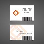 Business or Gift Card Design with Barcode Background